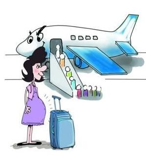 孕妇,飞机