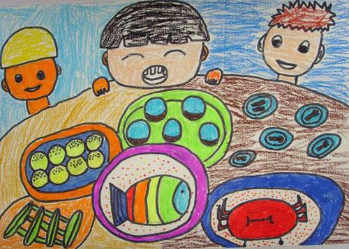儿童画,健康资讯