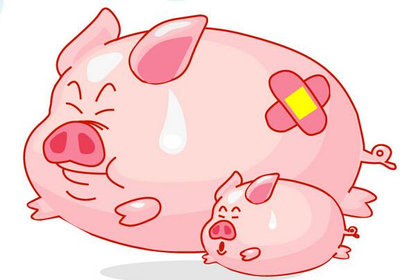 猪肉卡通矢量图
