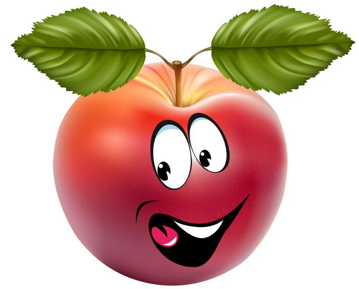 大苹果头像小清新可爱