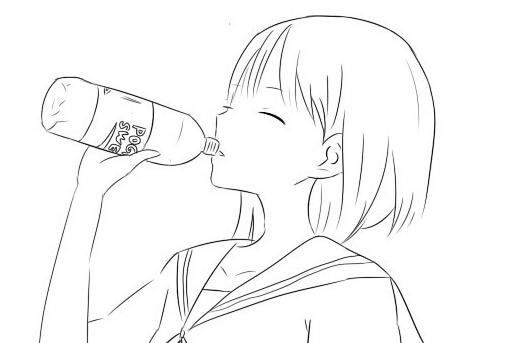 幼儿园喝水的大水桶简笔画