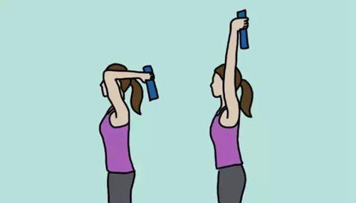 五个简单的动作摆脱久坐危害      举书过顶是一个简单至极的动作