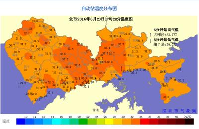 深圳气温图片